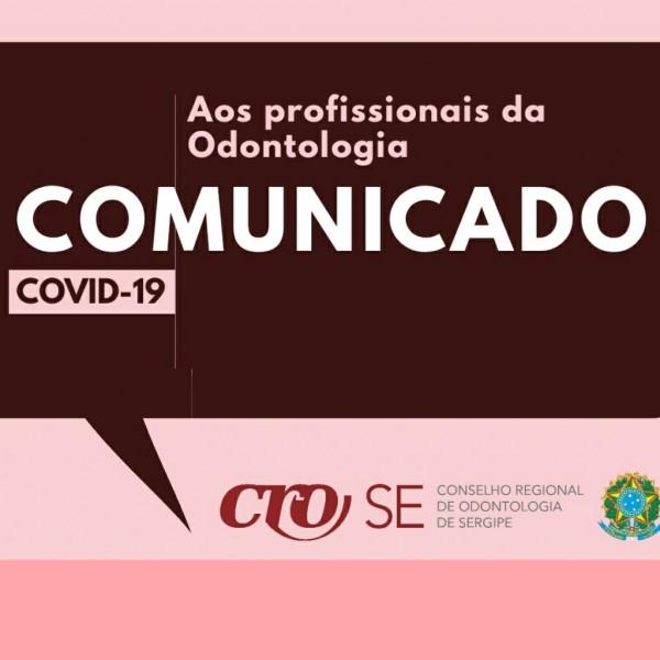 CRO-SE alerta profissionais sobre o Corona Virus