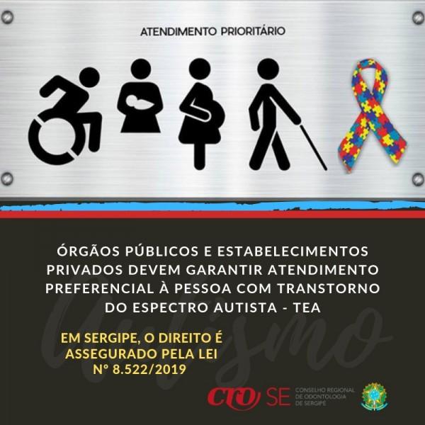 CRO-SE recomenda adequação de consultórios à lei que garante atendimento prioritário a pessoas com Autismo