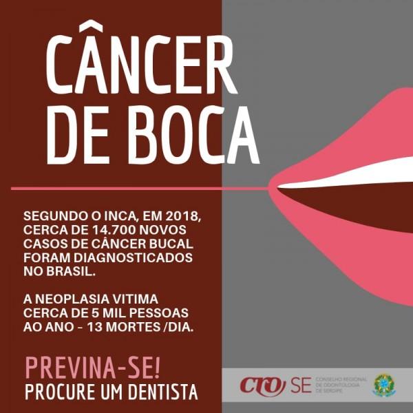 CRO-SE alerta sobre a importância da prevenção ao câncer de boca
