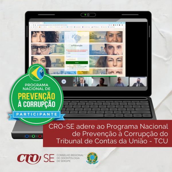CRO-SE adere ao Programa Nacional de Prevenção à Corrupção do Tribunal de Contas da União - TCU
