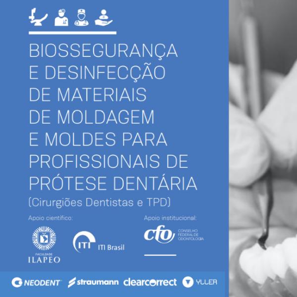 COVID-19 | CFO apresenta Manual de Biossegurança e Desinfecção de Materiais de Moldagem e Moldes para Profissionais de Prótese Dentária