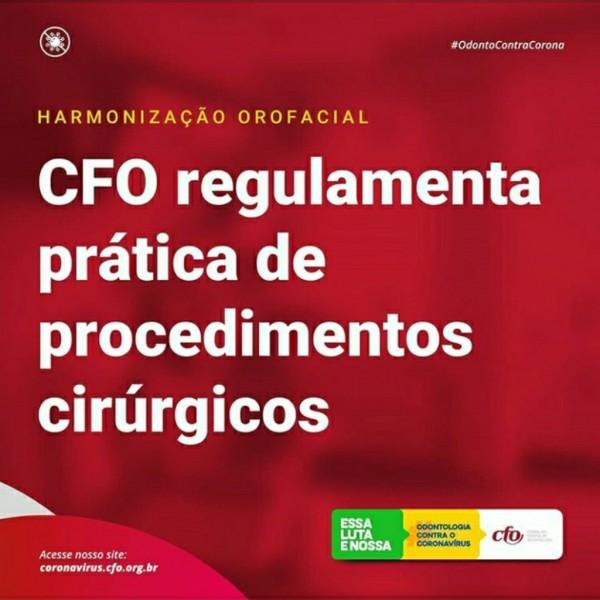 CFO regulamenta prática de procedimentos cirúrgicos em Harmonização Orofacial