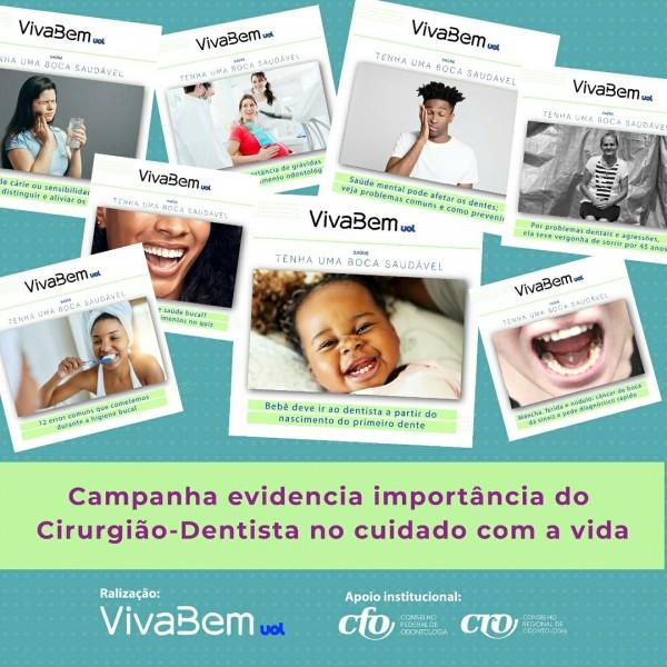 Campanha de saúde bucal do UOL evidencia importância do Cirurgião-Dentista no cuidado com a vida